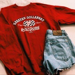 Vintage Red Racing Crewneck Sweater